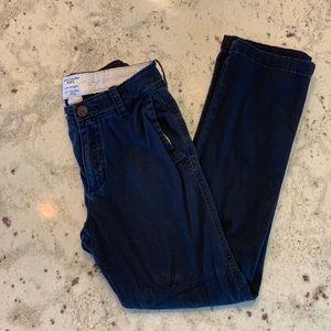 Abercrombie kids navy blue slim straight trousers.